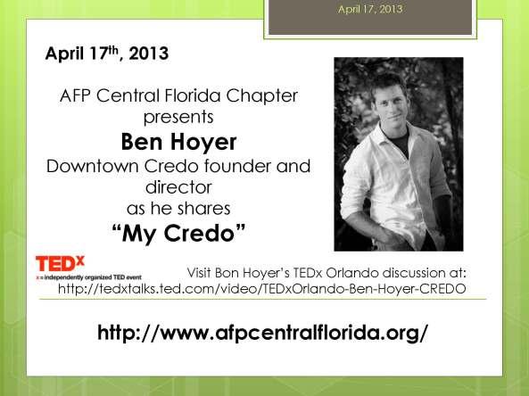 AFP Central Florida welcomes Ben Hoyer