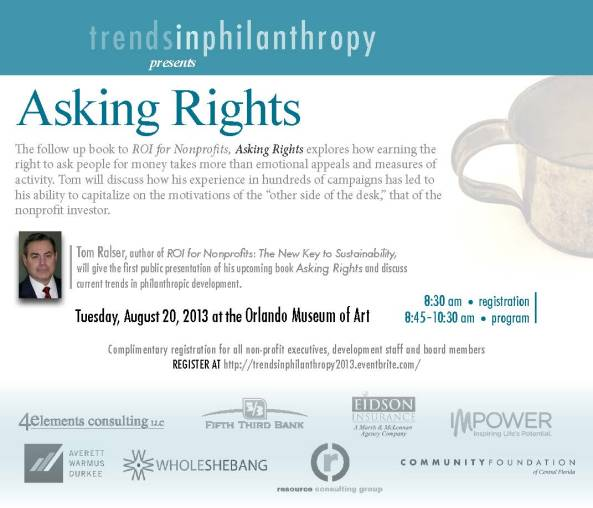 REGISTER AT http://trendsinphilanthropy2013.eventbrite.com/