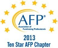 AFP Central Florida receives 10 Star Chapter award.